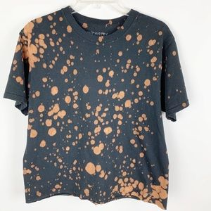 Chemistry Black T-shirt with Bleach Effect